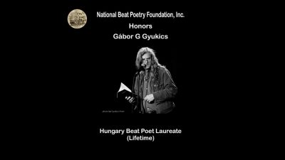 Lifetime Beat Poet Laurate award goes to Hungarian poet Gábor Gyukics