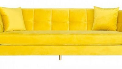 As if this yellow sofa could talk about marital infidelity!