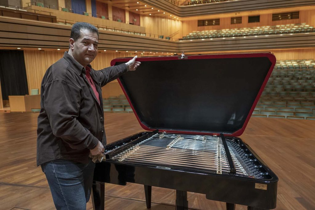 """Instrument making is a wonderful profession, says """"father"""" of the new giant cimbalom"""
